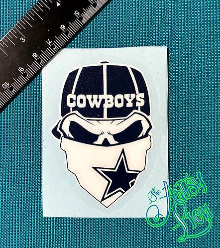 Dallas Cowboys skull reverse baseball cap
