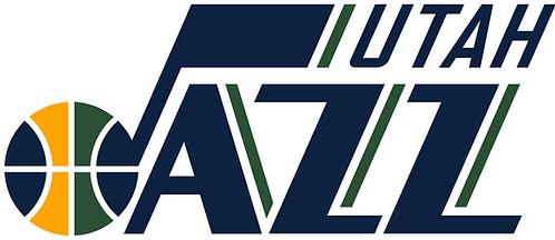 Utah Jazz logo, basketball blue green