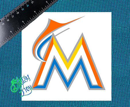 Miami Marlins decal