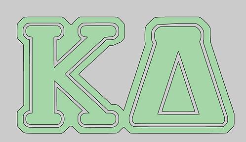 Kappa Delta 1 layer decal