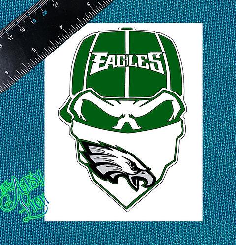 Philadelphia Eagles skull reverse baseball cap