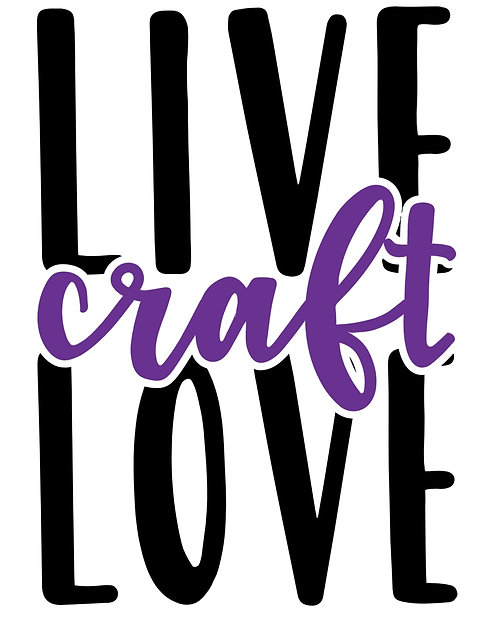 Live Craft Love decal sticker 2 colors