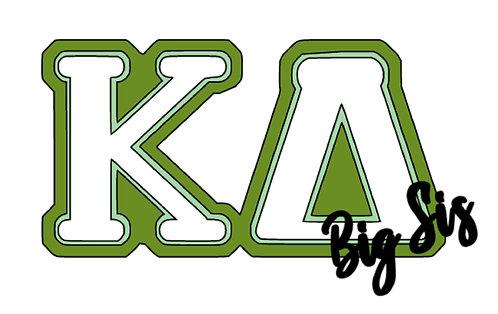 Kappa Delta Lil' or Big Sis Decal