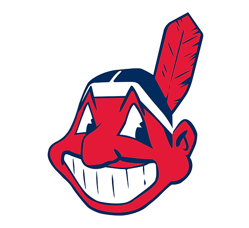 Cleveland Indians, Indian brave, red, blue, white