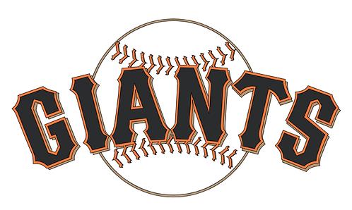 San Francisco Giants layered, baseball, orange, black, white
