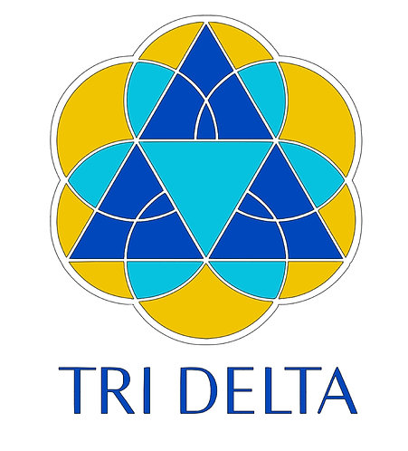 Delta Delta Delta (Tri-delta) logo layered decal in 4 colors