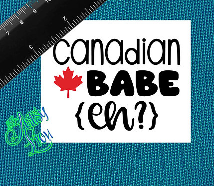 Canadian Babe (eh?) 2 color