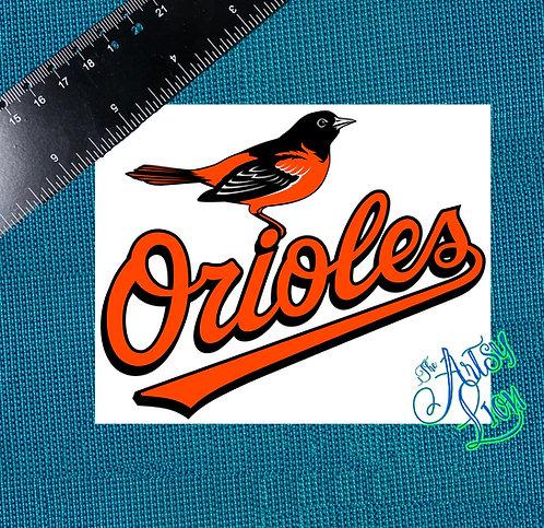 Baltimore Orioles decal