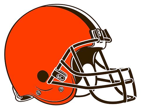 Cleveland Browns, helmet, orange, brown, white