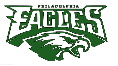 Philadelphia Eagles, green, white, logo, eagle head