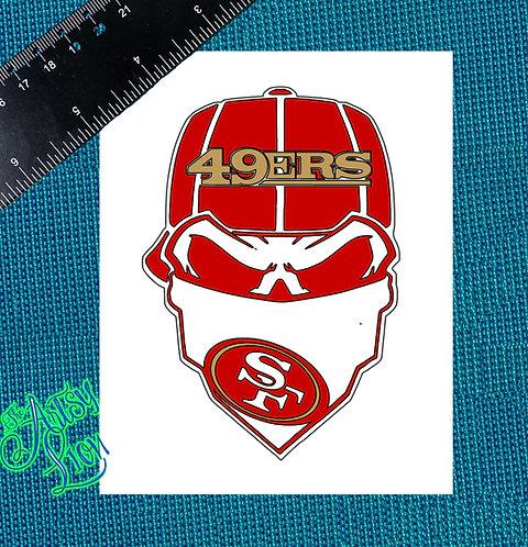 San Fransisco 49ers skull reverse baseball cap
