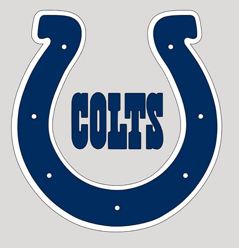 Indianapolis Colts, horseshoe, navy, white