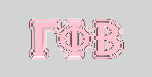 Gamma Phi Beta 1 layer vinyl, available in many colors.