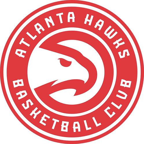 Atlanta Hawks, red circle, white