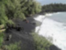 Kehena black sand beach Puna
