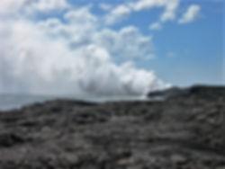Kilauea volcano lava flow Hawaii Big Island