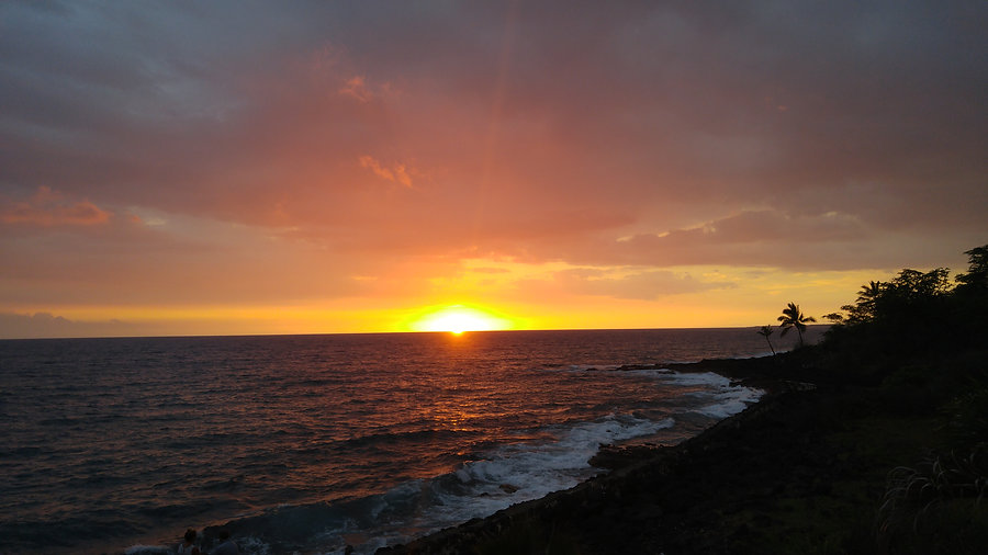 Hawaii sunset big island