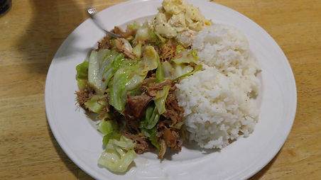 Big Island Grill Hawaii kalua pig potato-mac salad local food