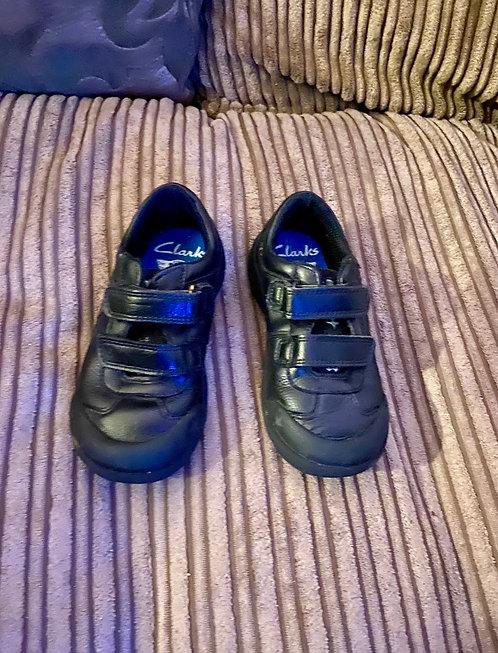 Black Clarks Jets Shoes Size 9F