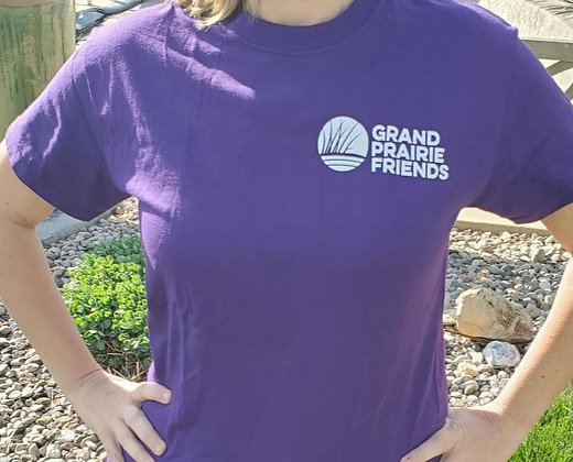 Grand Prairie Friends Unisex Purple Crew-Neck