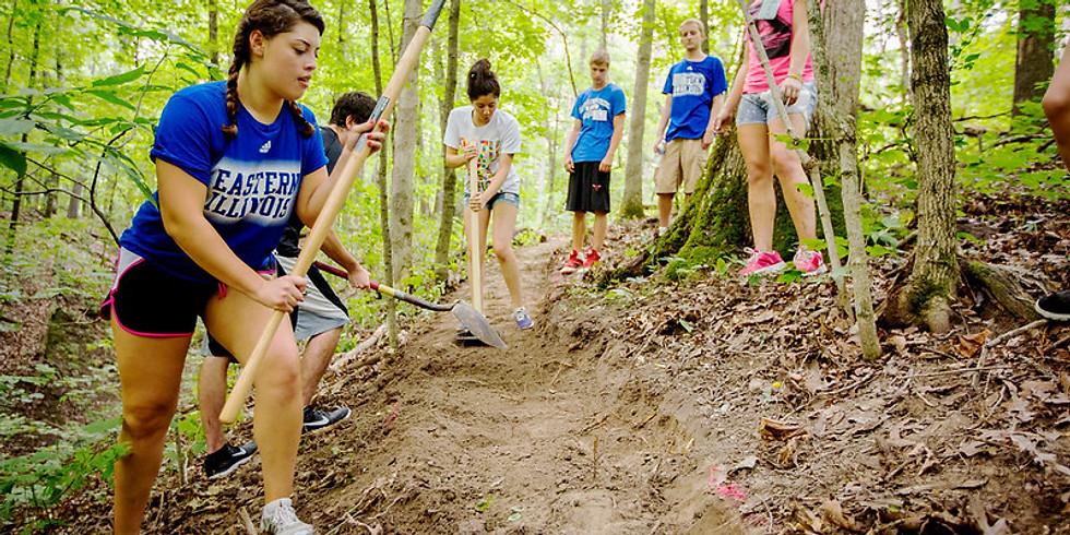 EIU Service Day at Warbler Ridge