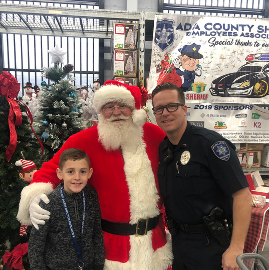 Shop with a Sheriff - Harper Santa and C