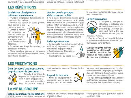 Protocole Sanitaire & Reprises des activités