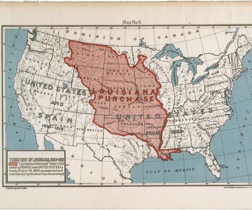 Map of the Louisiana Purchase Territory,