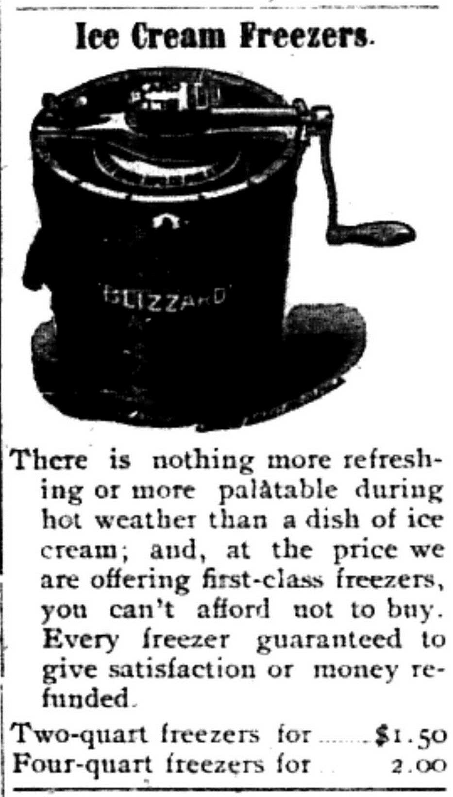 Ice cream Freezers 6-5-1903