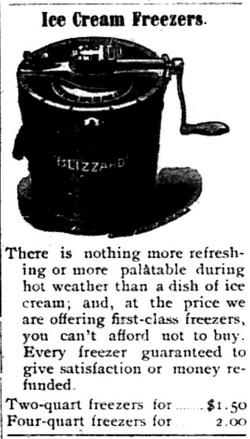 Ice cream Freezers 6-5-1903