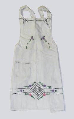 White full-length embroidered (for blue dress 3)