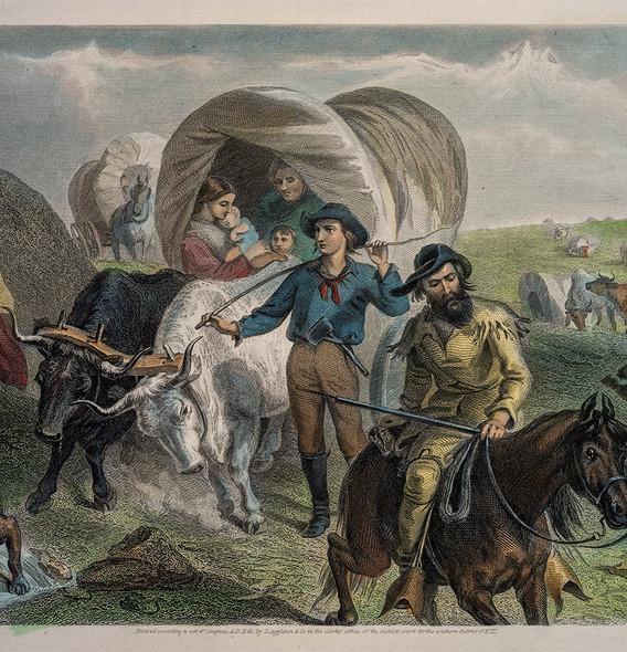 F.O.C Darley , Emigrants Crossing the Pl