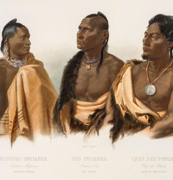 Missouri Indian, Oto Indian, Chief ot th