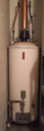 photo of broken water heater
