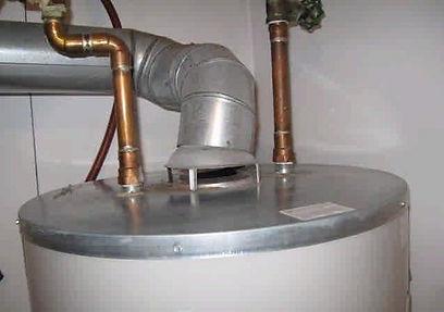 photo of flue pipe misalignment