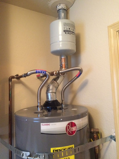 photo of expansion tank installed