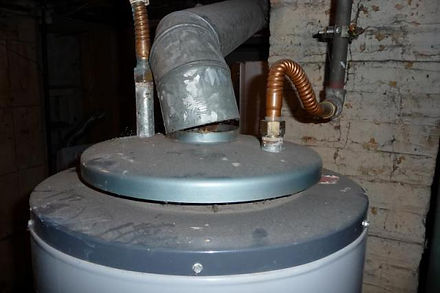 photo of unattached flue pipe