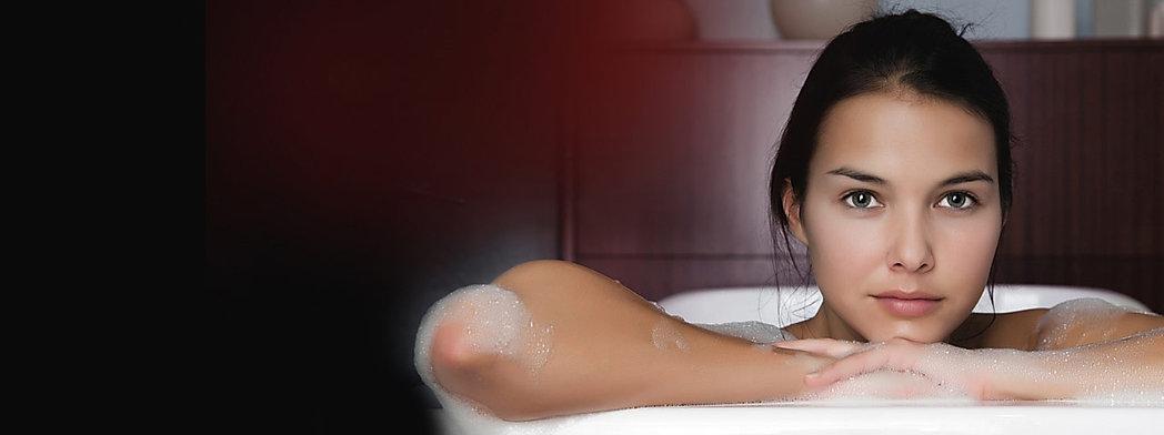 women in bath