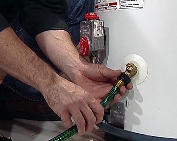 photo of water heater servicing