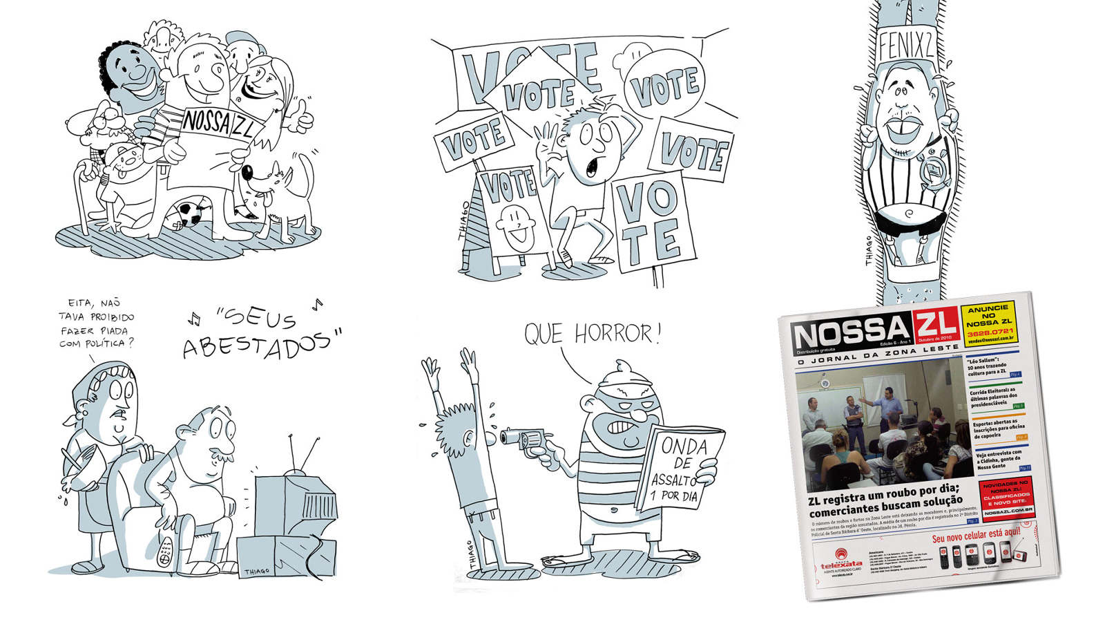 Cartoon - Nossa ZL newspaper