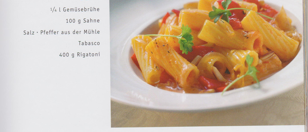 Rigatoni mit Paprikacremesauce