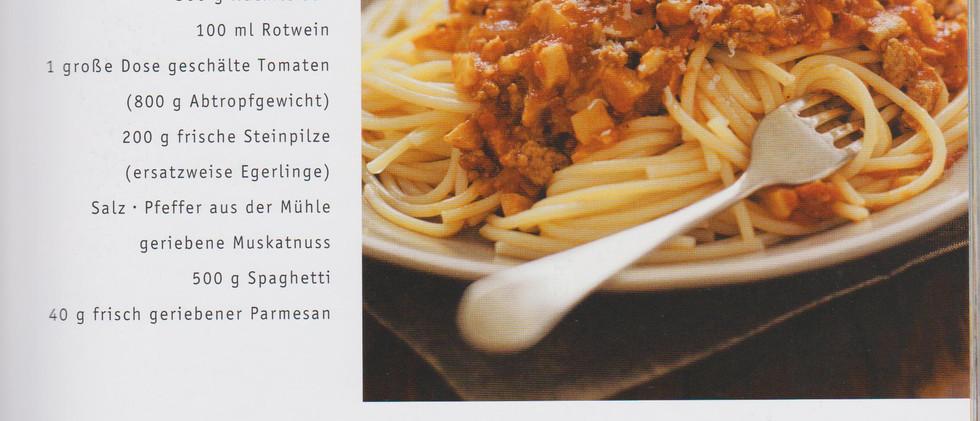 Spagetti mit Steinpilz Bolognese