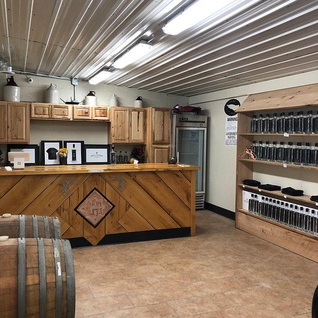 Tasting Room at Hall Island Distillery