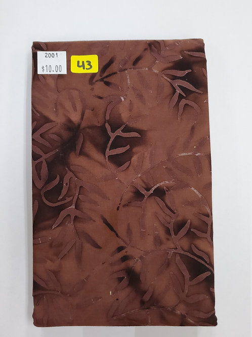 Batik # 43 - Brown With Vines