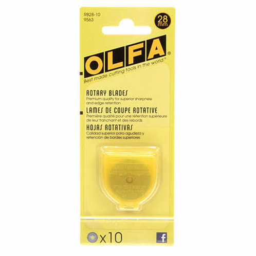 Olfa 28 mm Rotary Blade Replacements- 10 pack