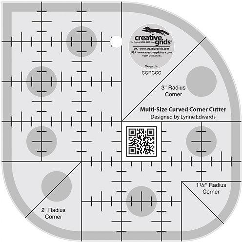 Creative Grids Ruler Curved Corner Cutter