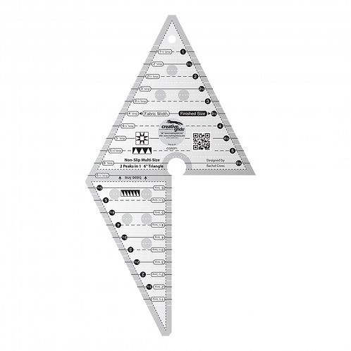Creative Grids Ruler 2 Peaks in 1 Triangle