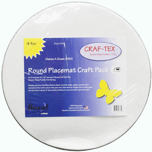 "Placemat Craft Pack 16"" Round 4 Pack"