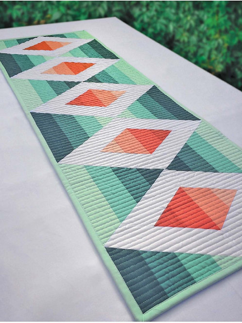 Aztec Diamond Table Runner Cut Loose Press