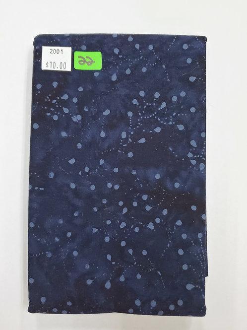 Batik # 22 - Dark Blue With Grey Spots
